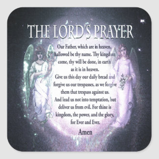 The Lord's Prayer Square Sticker