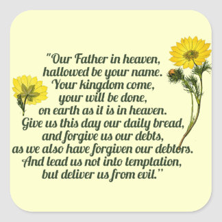 The Lords Prayer Square Sticker