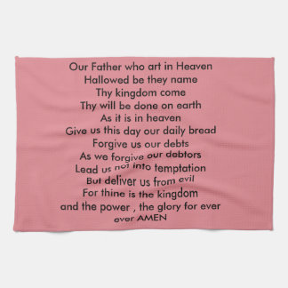 THE LORDS PRAYER TEA TOWEL