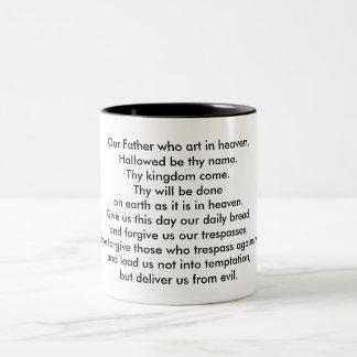 The Lord's Prayer Two-Tone Coffee Mug