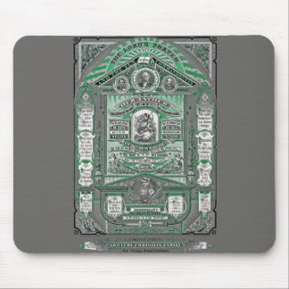 The Lord's Prayer vintage engraving (Green) Mouse Pad