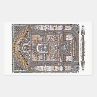The Lord's Prayer vintage engraving (ORANGE) Rectangular Sticker