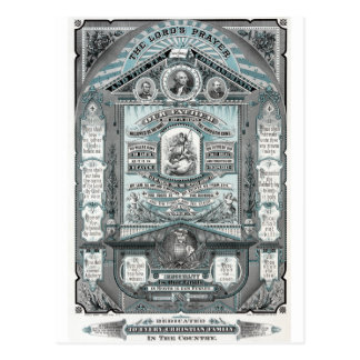 The Lord's Prayer vintage engraving Postcard