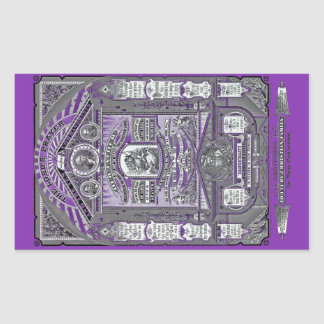 The Lord's Prayer vintage engraving (Purple) Rectangle Stickers