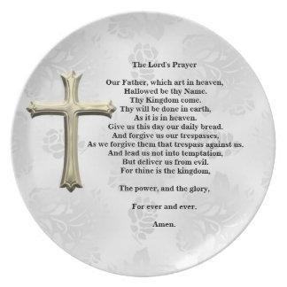 The Lord's Prayer (white) Dinner Plate