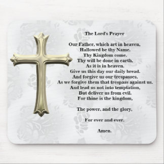 The Lord's Prayer (white) Mouse Pad