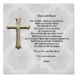 The Lord's Prayer (white) Poster