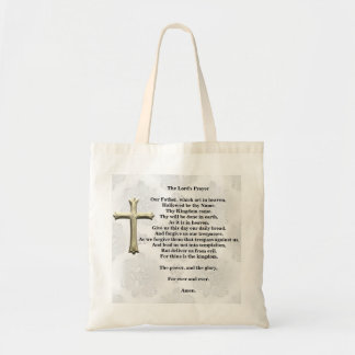 The Lord's Prayer (white) Tote Bag