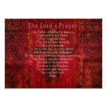The Lord's Prayer Words  Religious Art Poster