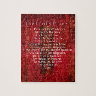 The Lord's Prayer Words traditional Jigsaw Puzzle