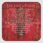 The Lord's Prayer Words traditional Square Sticker