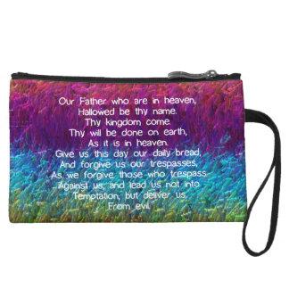 The Lord's Prayer Wristlet Purse