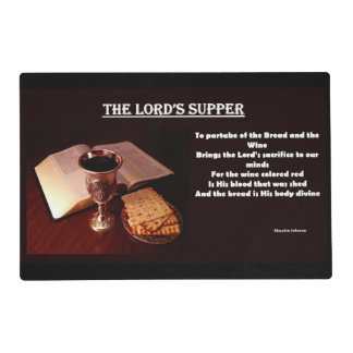 The Lord's Supper - Placemat