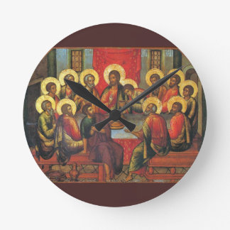 The Lord's Supper Round Clock