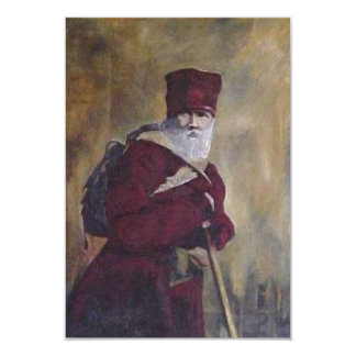 The Lords Traveler. A man in winter red Card