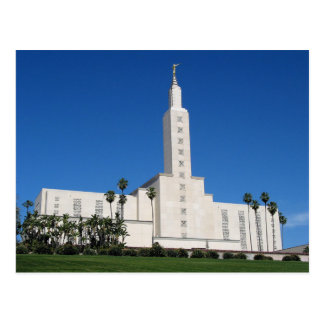 The Los Angeles California LDS Temple Postcard