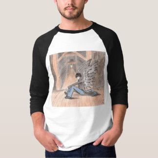 """The Lost Angel"" Basic 3/4 Sleeve Raglan T-Shirt"