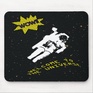 The Lost Astronaut in the Universe Mouse Pad