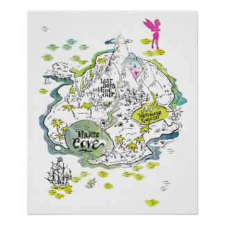 The Lost Boys Treasure Map Poster