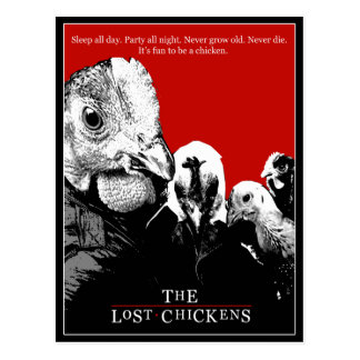 THE LOST CHICKENS POSTCARD