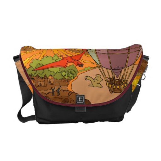 The lost world courier bag