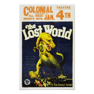 The Lost World Dinosaur Monster Movie Poster