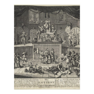 The Lottery by William Hogarth Letterhead