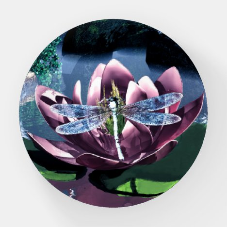 The Lotus and the Dragonfly Paperweight