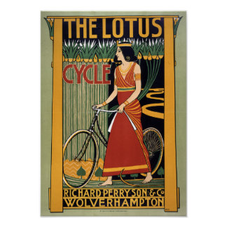 The Lotus Cycle 1896 Poster