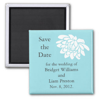 The Lotus Flower Save the Date Magnet (turquoise)