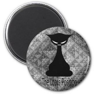The Lotus Position Cat Cartoon Fridge Magnets