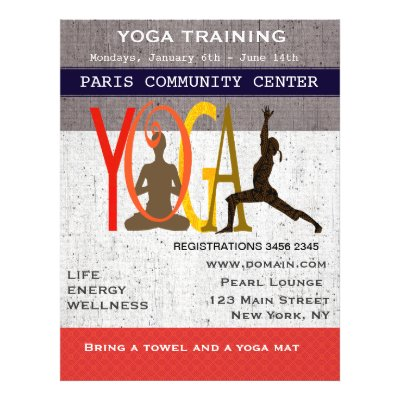 Work It Out Pilates Yoga Exercise Workout Flyer  Zazzle