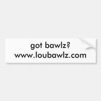 The Lou Bawlz Show Bumper Sticker