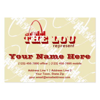 The Lou St. Louis Represent Business Card Templates