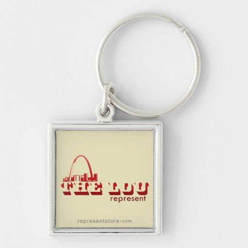 The Lou St. Louis Represent Key Chains