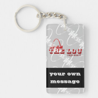 The Lou St. Louis Represent Keychain