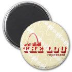 The Lou St. Louis Represent Magnet