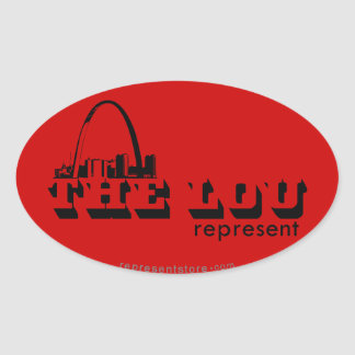 The Lou St. Louis Represent Oval Sticker