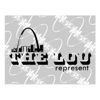 The Lou St. Louis Represent Post Cards