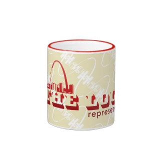 The Lou St. Louis Represent Ringer Coffee Mug