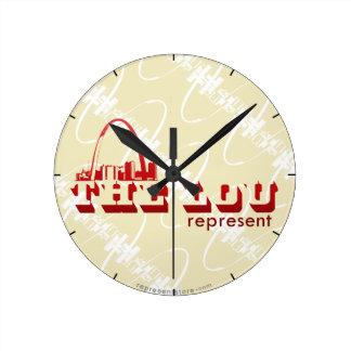 The Lou St. Louis Represent Round Clock