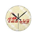 The Lou St. Louis Represent Round Clocks