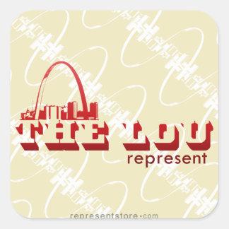The Lou St. Louis Represent Square Sticker