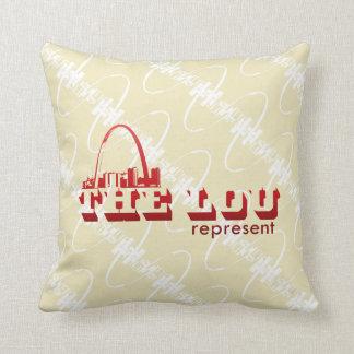 The Lou St. Louis Represent Throw Pillow