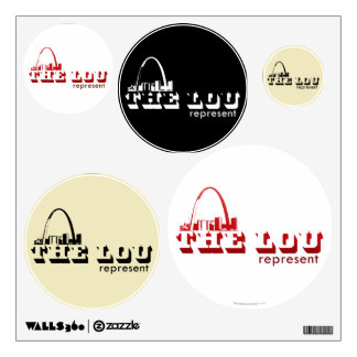The Lou St. Louis Represent Wall Decal