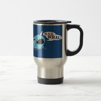 The Loud Narwhal 15 Oz Stainless Steel Travel Mug
