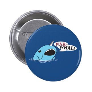 The Loud Narwhal Button