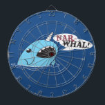 "The Loud Narwhal Dart Board<br><div class=""desc"">A funky drawing of a Narwhal</div>"