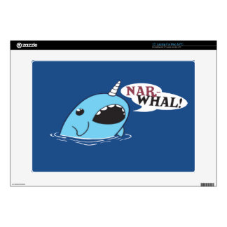 "The Loud Narwhal Decals For 15"" Laptops"