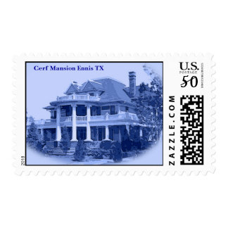The Louis I. Cerf Mansion 1904-1967 Ennis Texas Postage